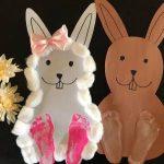 Easy Easter Craft – Cardstock Easter Bunny DIY