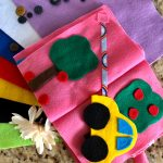 DIY no sew busy book – Great entertainment for kids